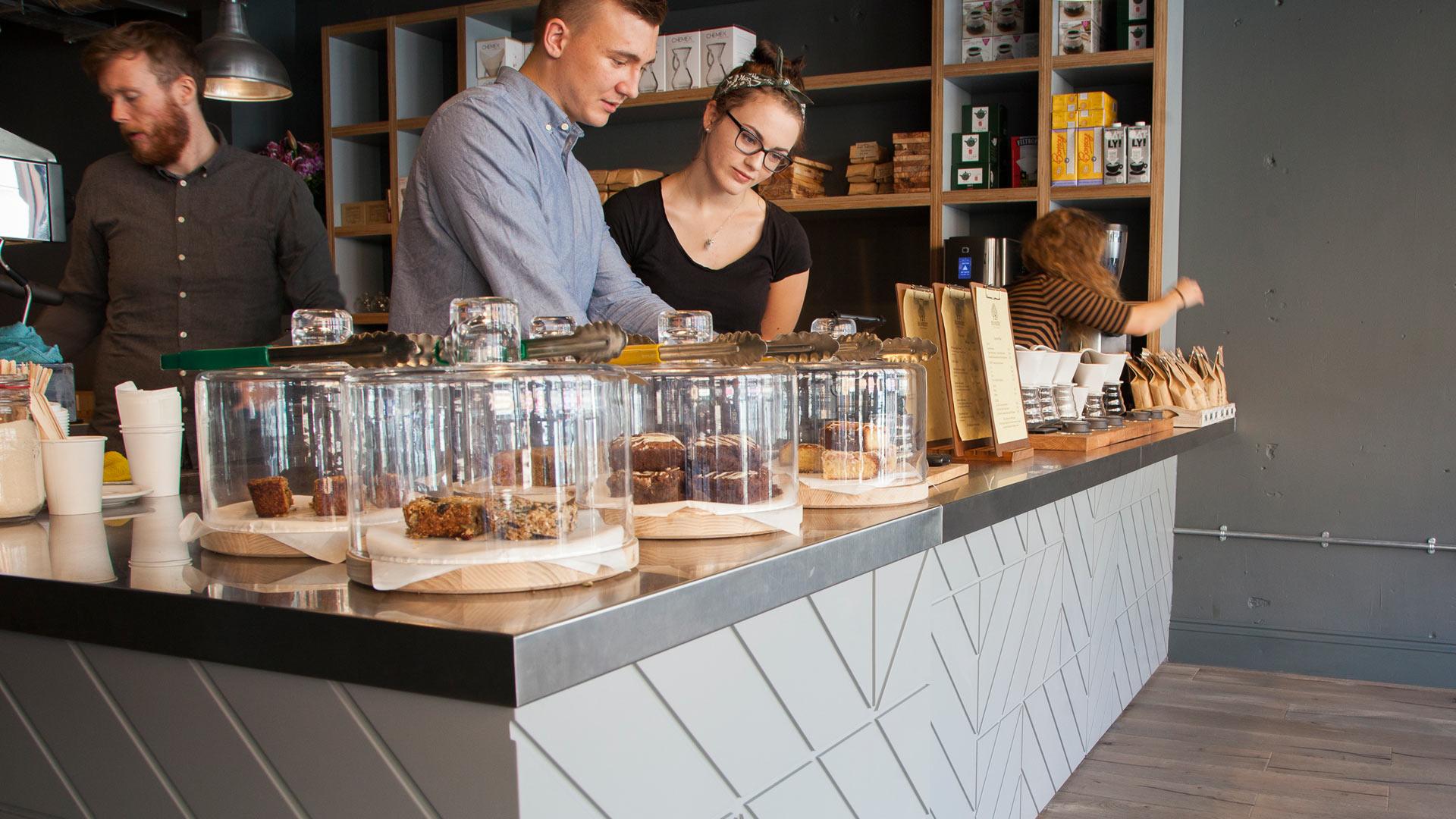 beanberry coffee shop interior coffee counter design