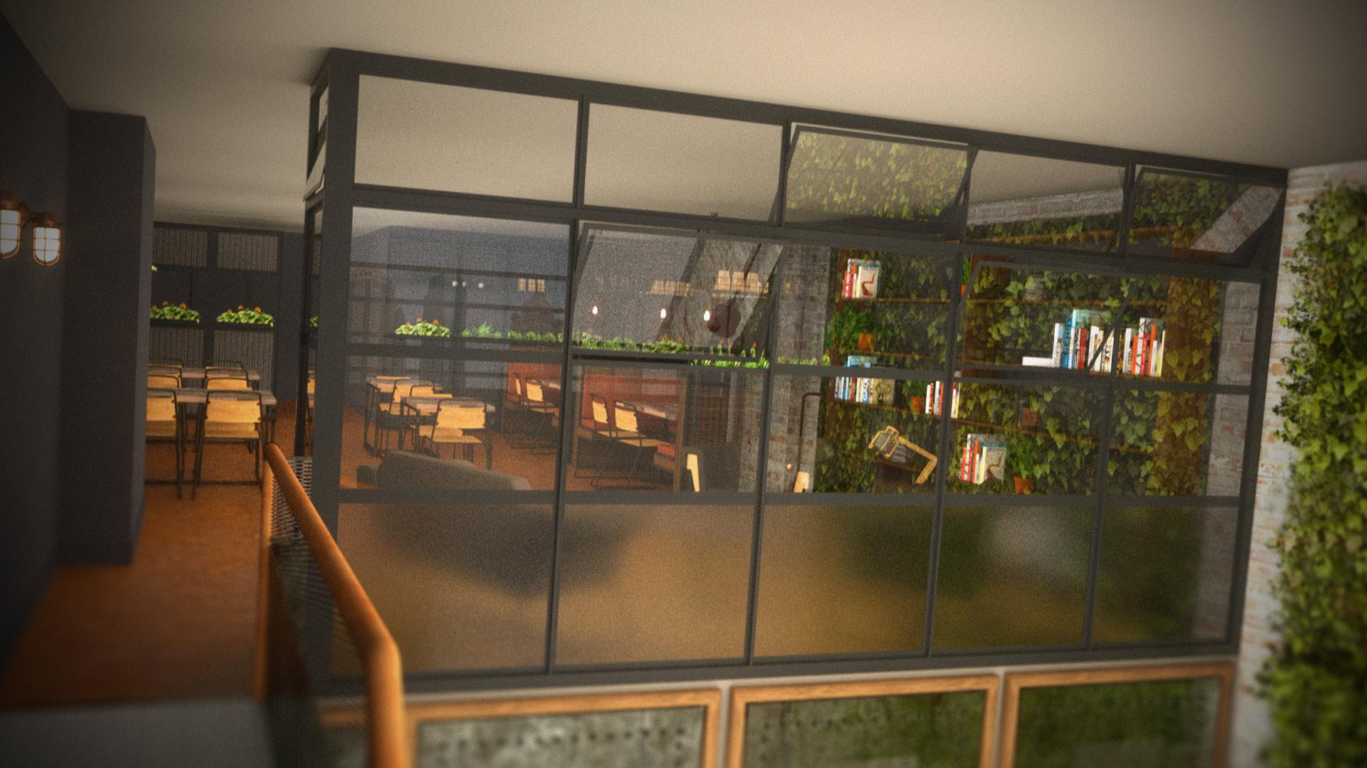 From staircase Coffee Shop Design Saudi Arabia