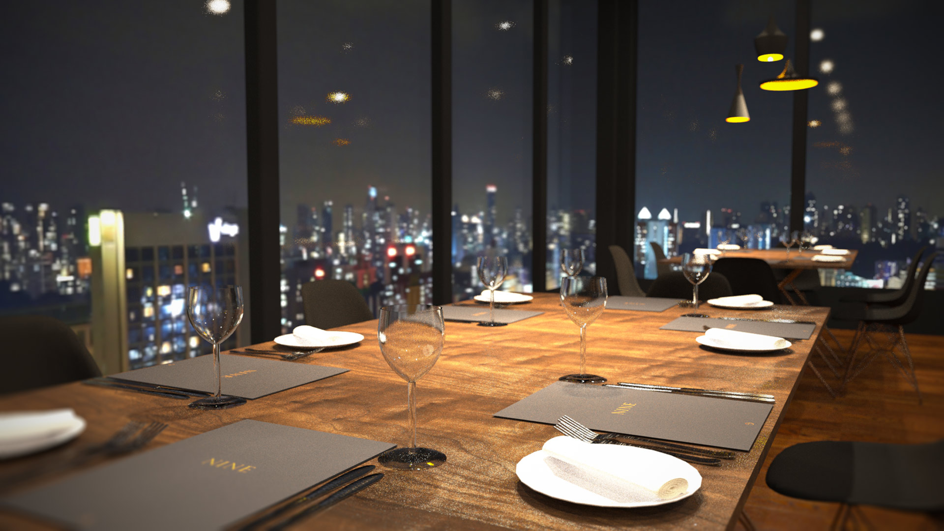 Nine luxury restaurant interior design