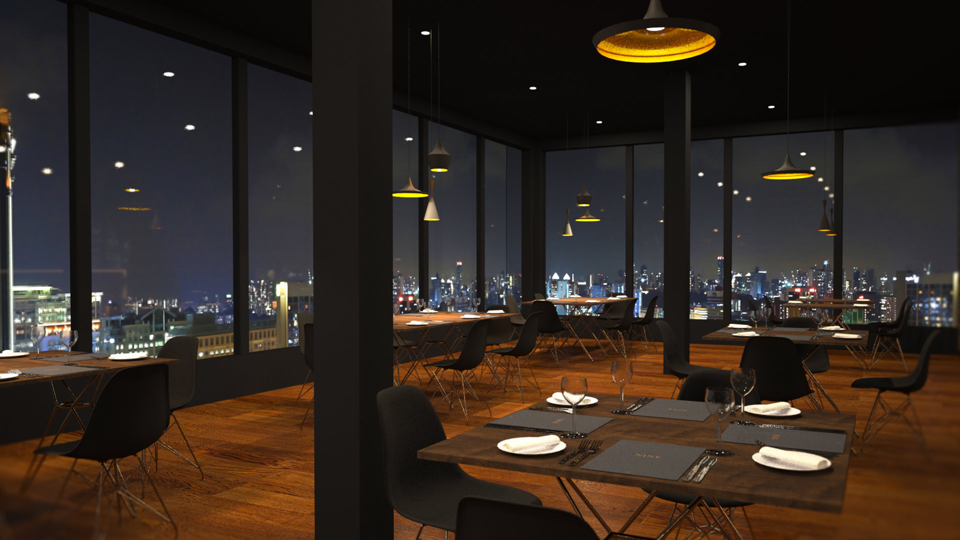 Nine luxury restaurant interior liqui restaurant for Restaurant design london