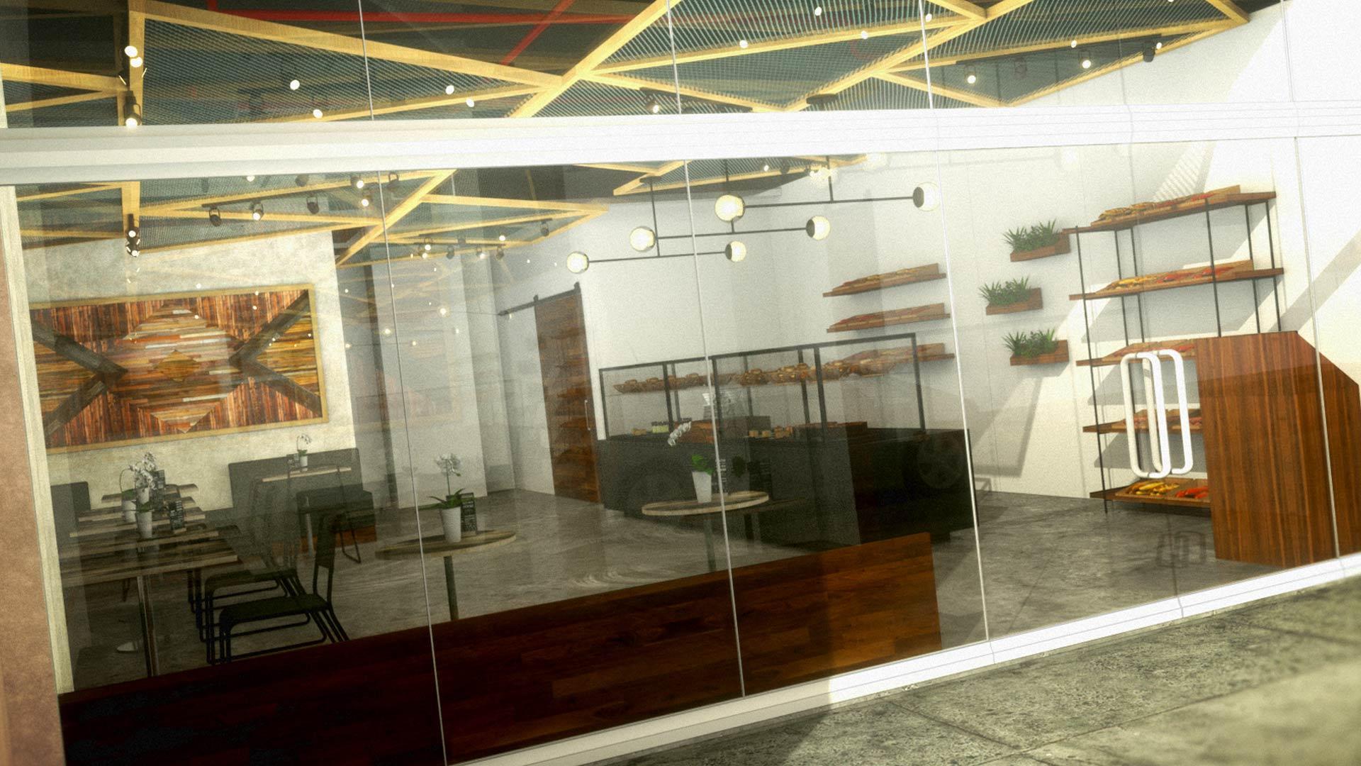 Zucha bakery restaurant interior design liqui interiors