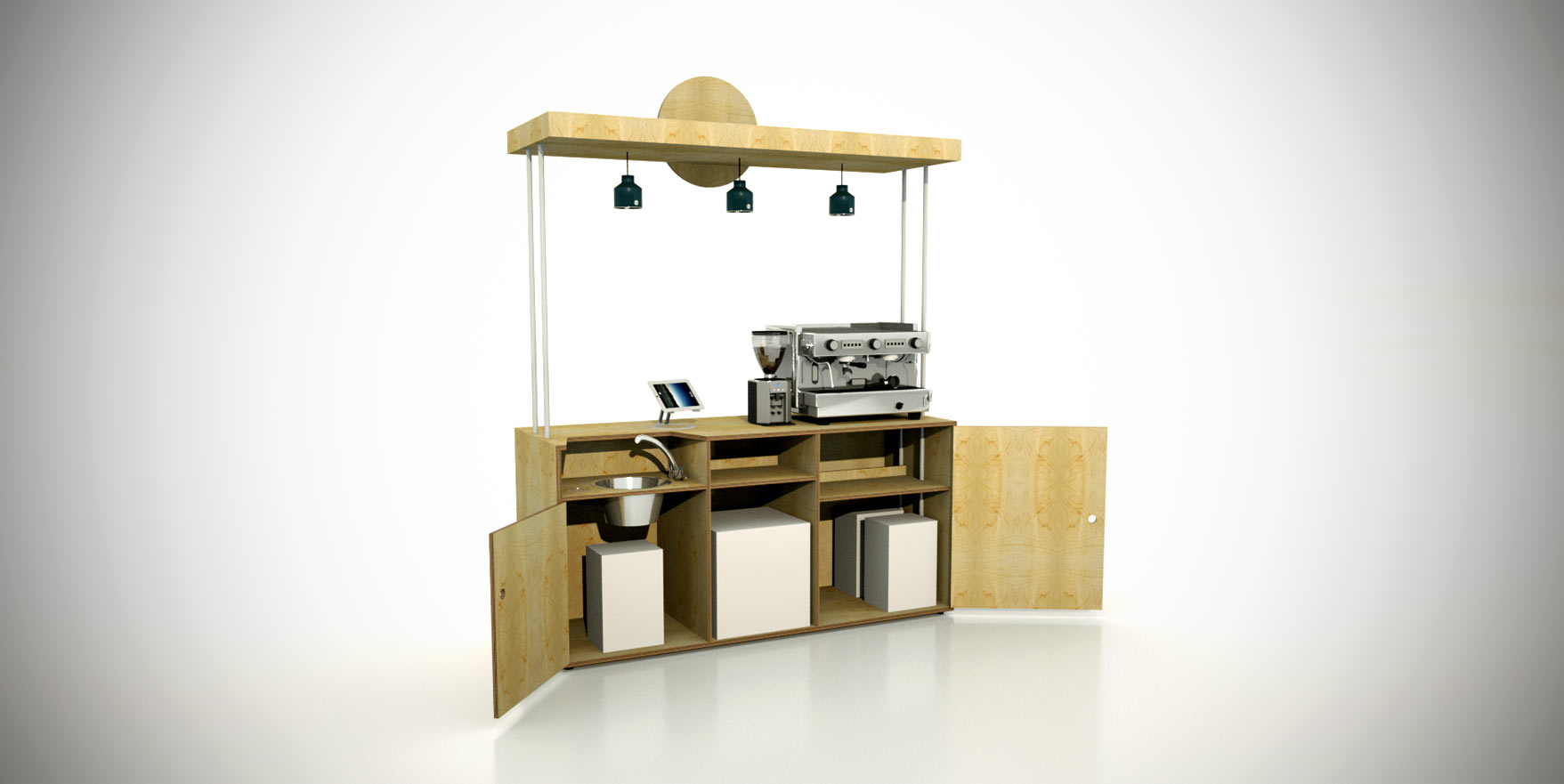 Cafedirect kiosk liqui design for The design consultancy