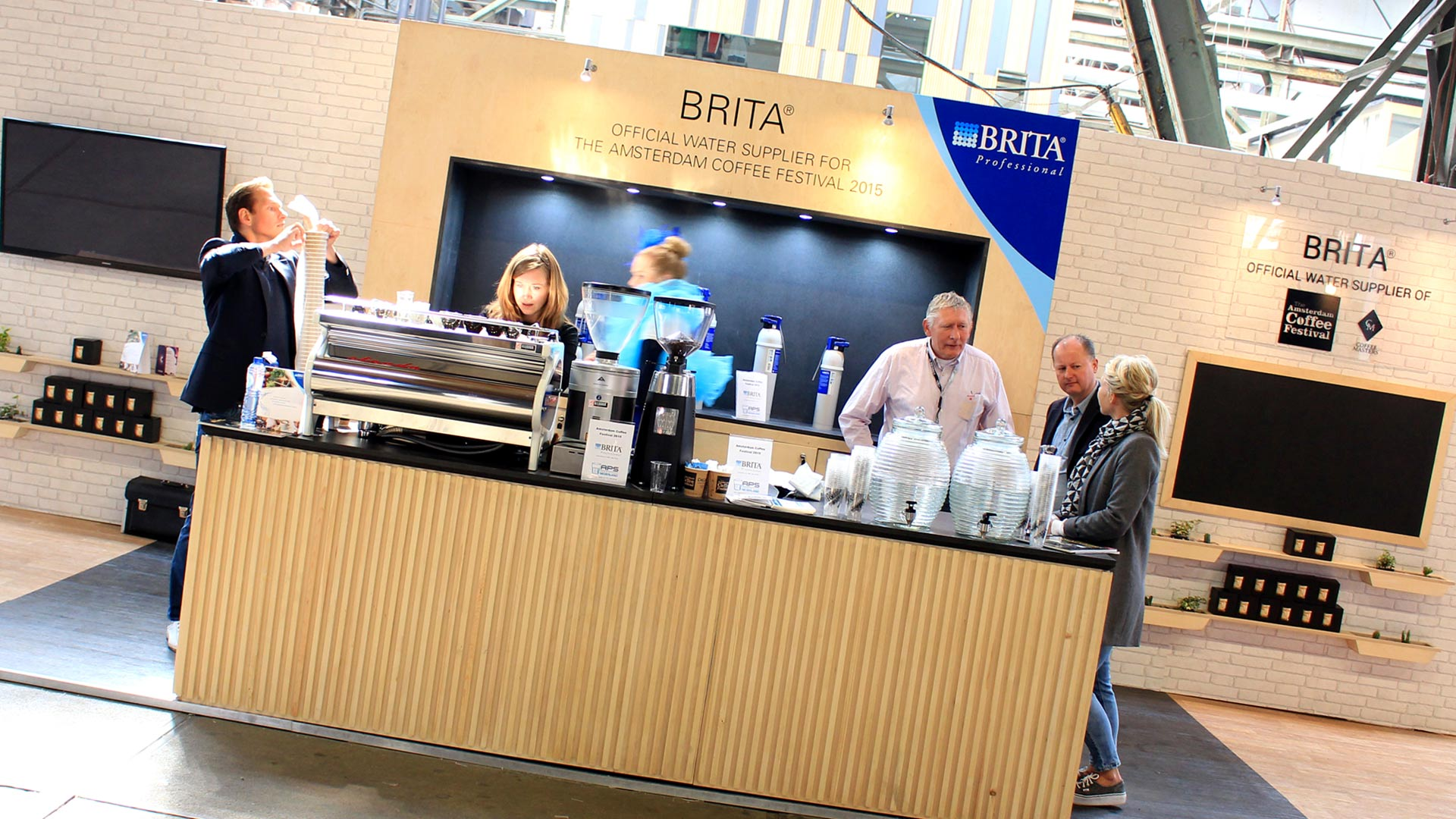 Exhibition Stand Coffee : Brita trade stand liqui design consultants london coffee