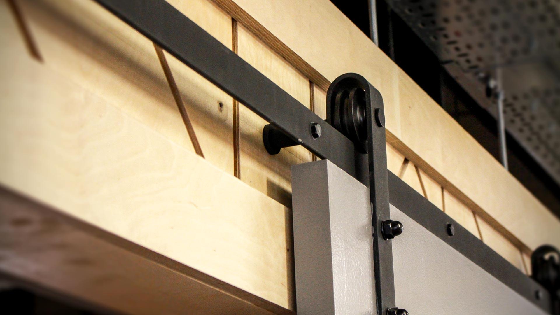 Factory sliding door in office design