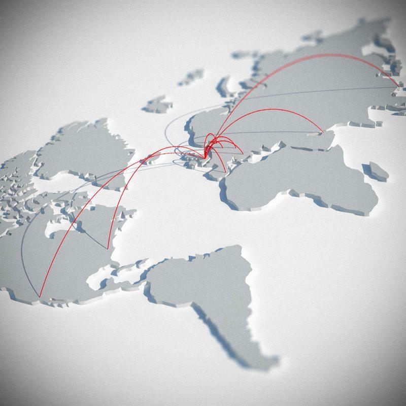 LIQUI - WORLD WIDE INSTALLATION - map of the world