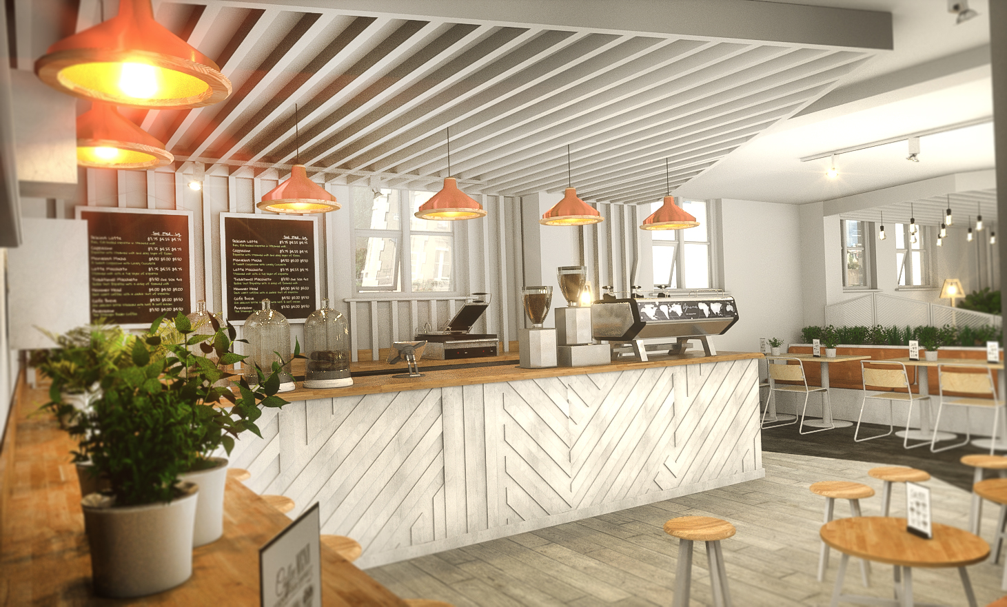 Coffee Shop Interior | Turnkey Service | Commercial ...