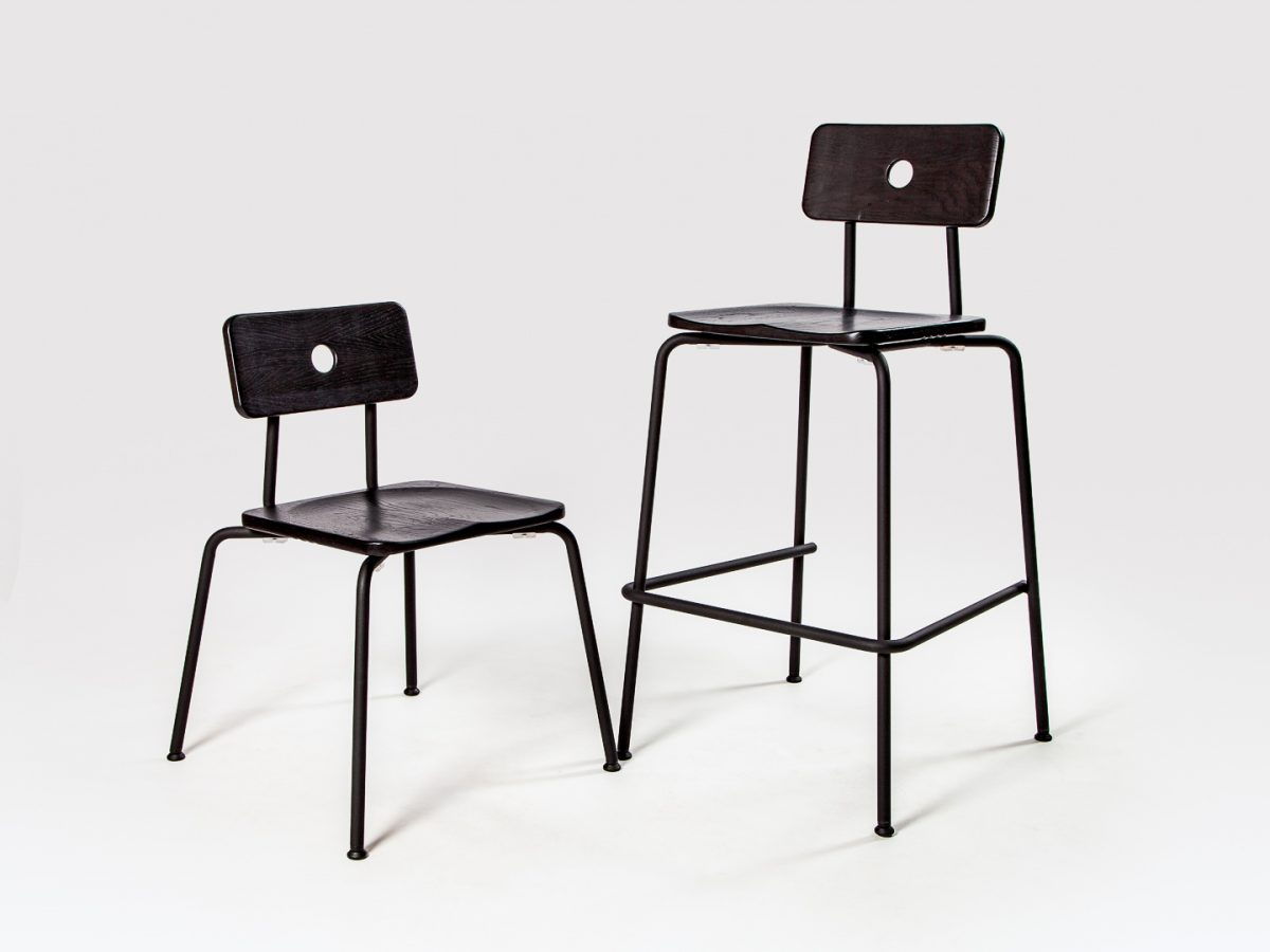 Milne bar stool and chair